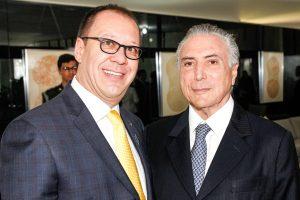 Brasília - DF, 08/06/2016. Presidente interino Michel durante almoço com lideres empresárias. Foto: Marcos Corrêa/PR